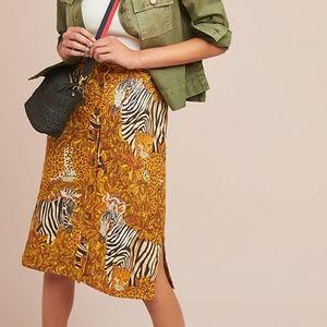 🦓 NWOT Anthropologie Jungle Pencil Skirt
